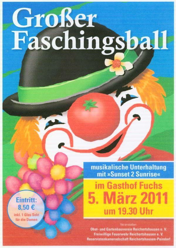 Einladung zum Faschingsball am 05.03.2011
