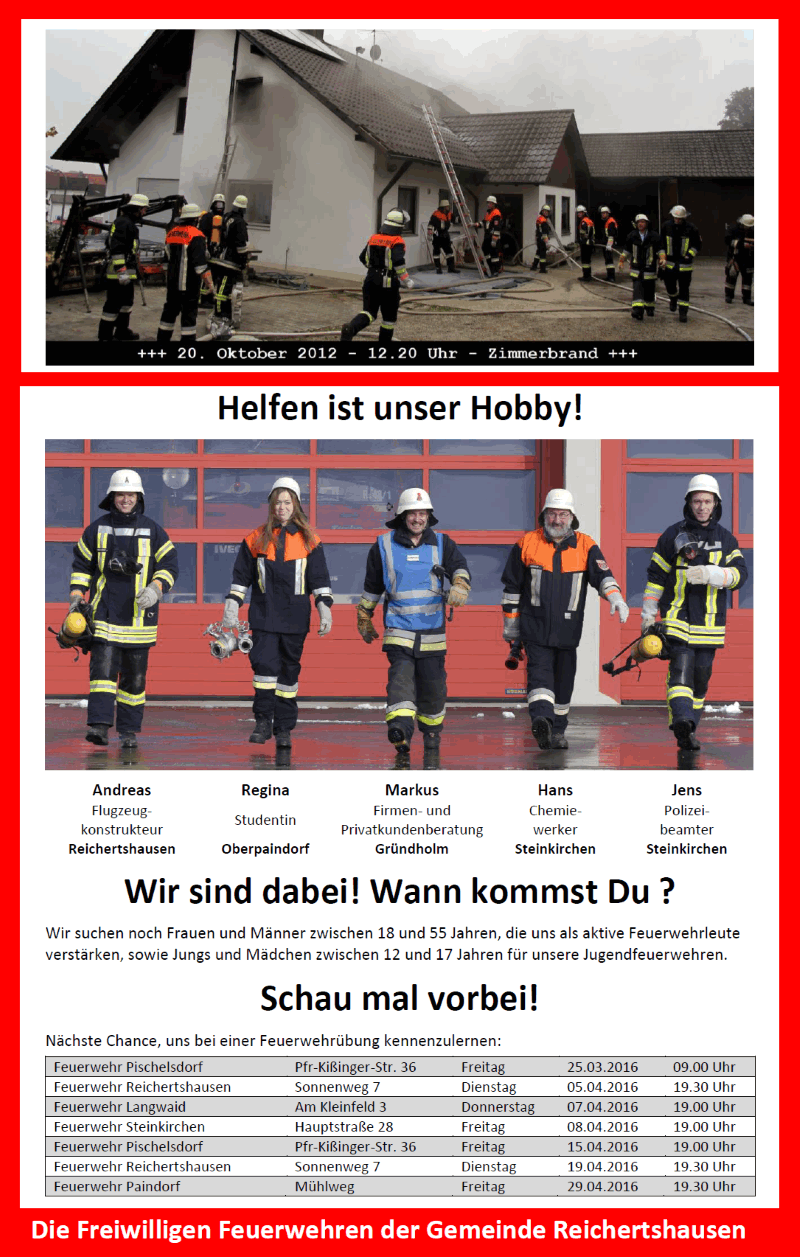 Helfen ist unser Hobby!